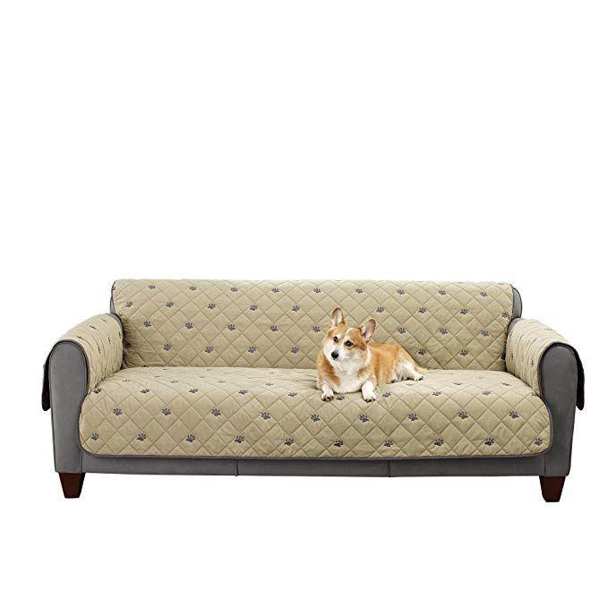 Sure Fit Deluxe Non Slip Furniture Cover Sofa Tan Review Furniture Covers Sofa Furniture Deep Seated Couch
