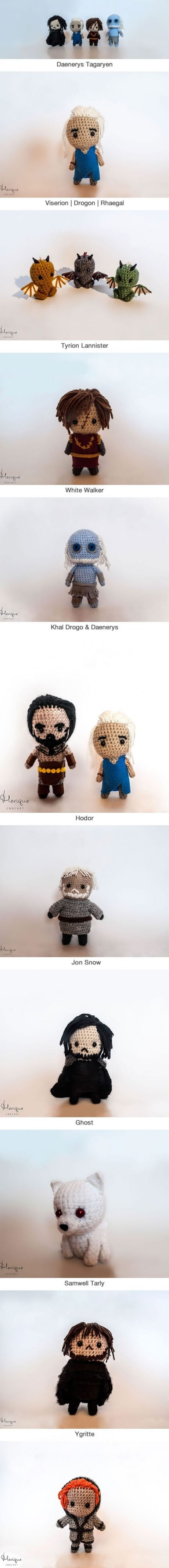 Game Of Thrones Character Crochets (By Anamaria Androne)