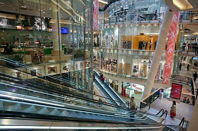 Winkelcentrum palladium in Praag.