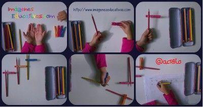 Cómo enseñar a coger el lápiz correctamente con pinzas de la ropa