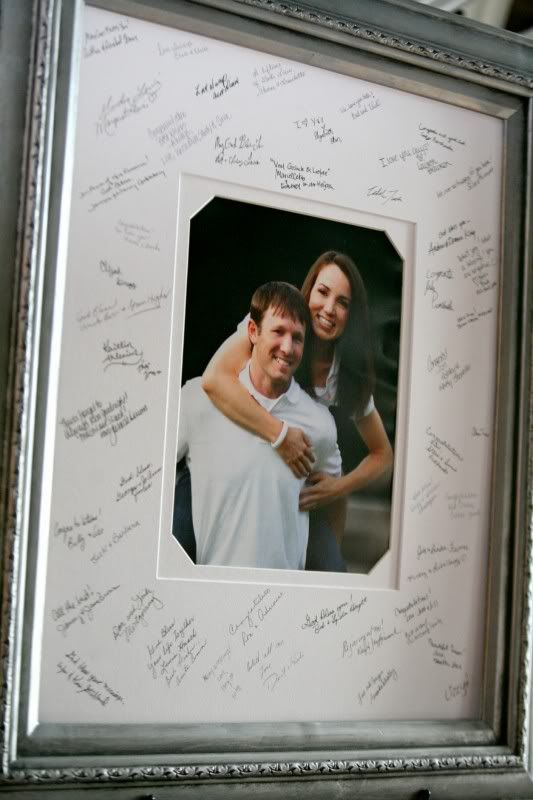 """Definetly doing this! Wedding """"Guest Book!"""" So much better then an acutal book, because you can look at this on your wall everyday instead of pulling out the book once in a lifetime! (:"""