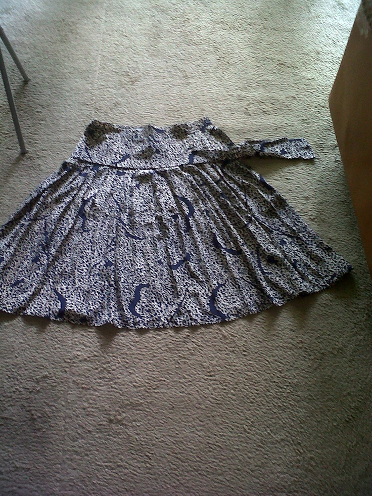 large pleated silk skirt (not available)