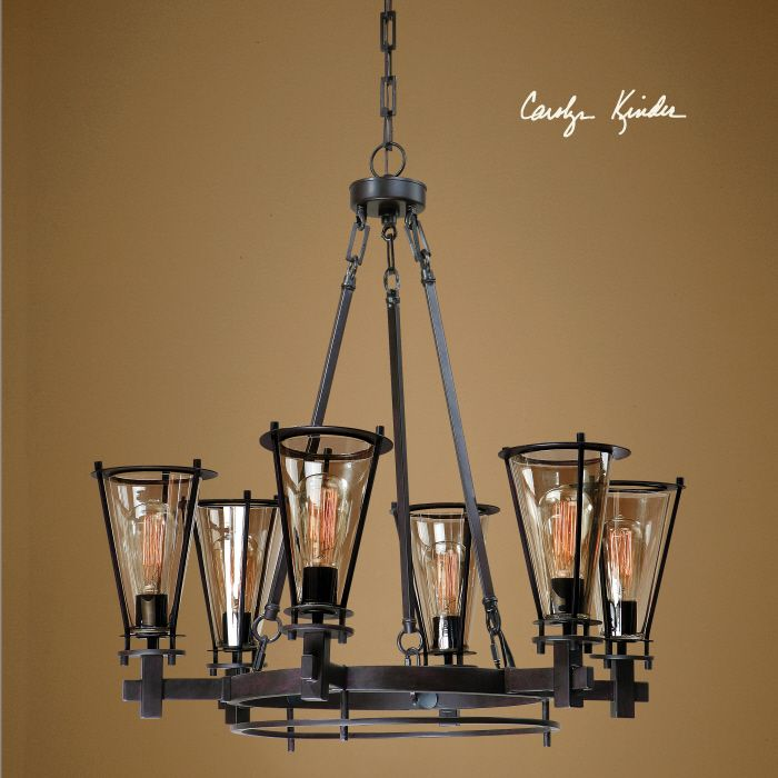 Uttermost frisco 6 light metal chandelier 21263 off coupon