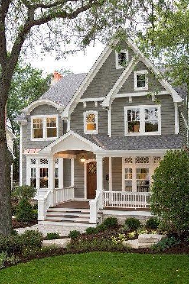 Love This Exterior Paint Color Wood Stain Door And Porch White Trim Windows Transom Roof Pe