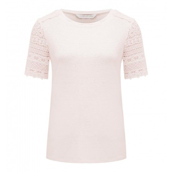 Marie Lace Back Tee