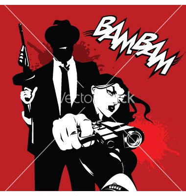 Deadly couple vector by sababa66 on VectorStock®