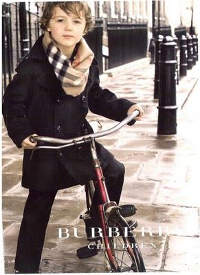 Burberry kids. So cute! I adore kids clothes.