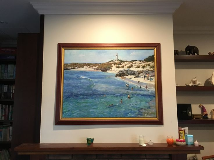 Our painting of Rottnest