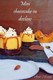 Alina Avram's Blog: Mini cheesecake cu dovleac (fără coacere)
