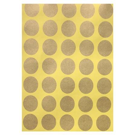Papel pintado con lunares grandes de margo selby lima y - Vinilos lunares dorados ...