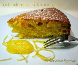 i dolci di laura: torta di mele e lemon curd