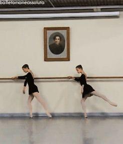 Ksenia Zhiganshina (left) and a classmate from the Vaganova Ballet Academy  Ksenia Zhiganshina and Anastasia Lukina.