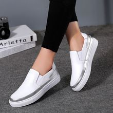 Moda 2016 de Las Mujeres Zapatos de Cuero Genuinos de Ocio Plana Zapatos de Conducción Respiradero Causales Holgazanes Perezosos Zapatos Sin Cordones(China (Mainland))
