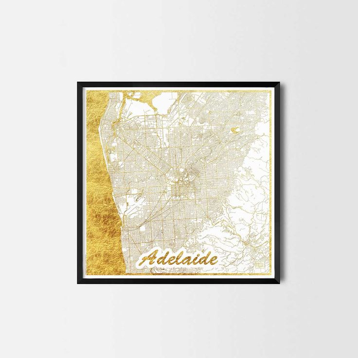 Adelaide map posters are high quality map art prints of a great city. Perfect for the house and office or as a gift for a friend.