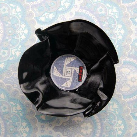 Vinylskål/LP redesign BLÅLILLA/HVIT