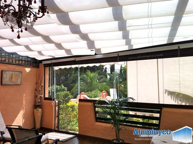 Acristalamiento de terrazas cierres de cristal para - Cortinas para puertas de cristal ...