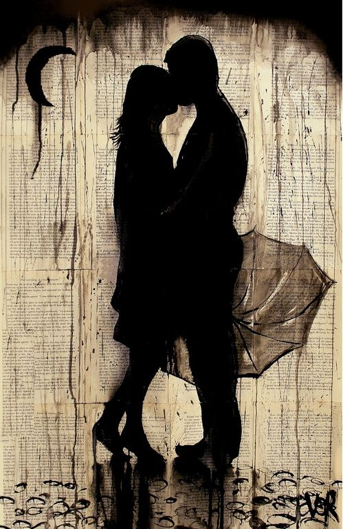 Loui Jover -Tryst, Pen and Ink