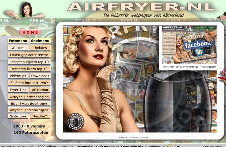 Heel veel Airfryer recepten op Airfryer-NL http://www.henkzwiers.nl/Airfryer_index.htm Aanrader! AK