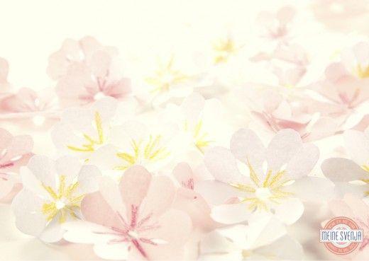 Osterdeko basteln - Kirschblüten aus Papier | Meine Svenja
