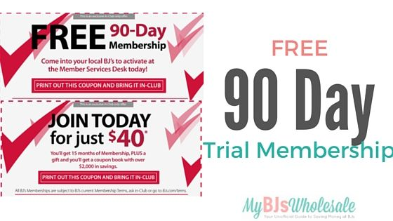 Free 3-Month Trial Membership to BJ's Wholesale Club - http://www.mybjswholesale.com/2016/08/free-60-day-bjs-membership-full-benefits-no-surcharge.html/