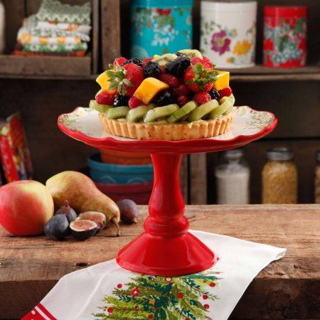 The Pioneer Woman Holiday Cheer 10 5 Quot Cake Stand Cheer