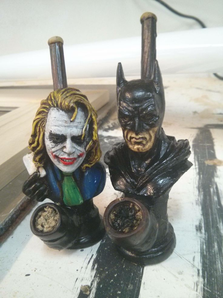 Joker and Batman ceramic smoking pipes #marijuana