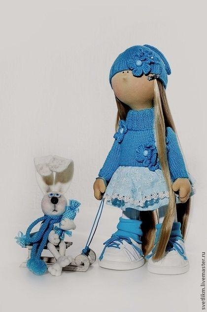Повторить невозможно - бирюзовый,кукла ручной работы,кукла интерьерная