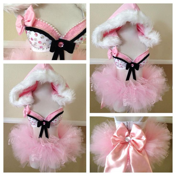 So gorgeous fluffy pink and black rave set., Love This