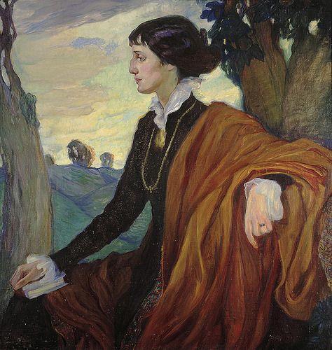 Anna Akhmatova by Olga Della-Vos-Kardovskaya. 1914.