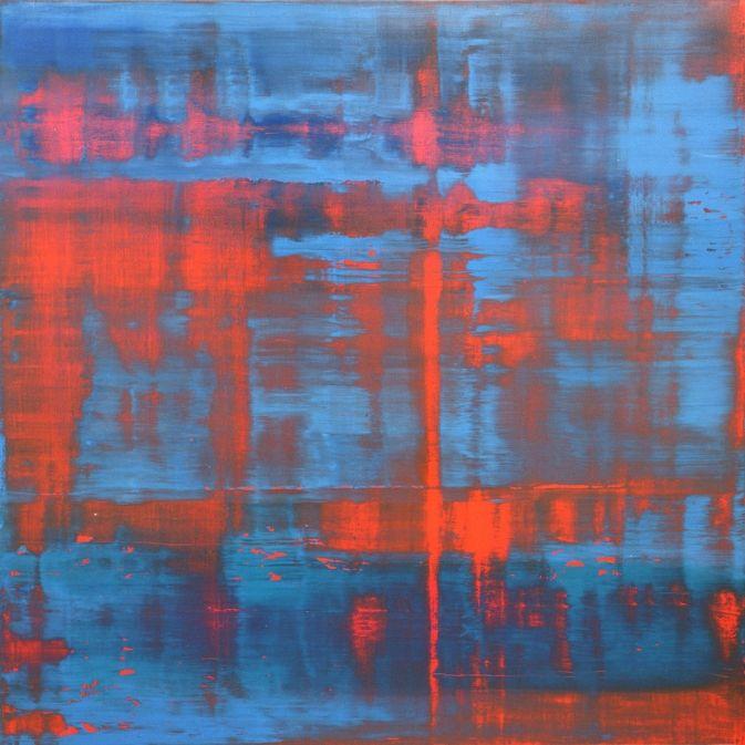Gerhard Richter, Rot-Blau-Grün, Red-Blue-Green, 1994, 240 cm x 240 cm, Catalogue Raisonné: 803-4, Oil on canvas