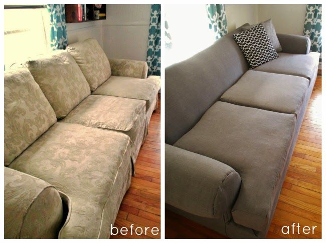 DIY Couch Reupholster With a Painter's Drop Cloth ...
