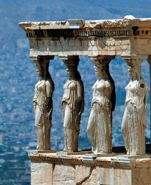 Macedonia and the rest of Greece -   Caryatides,Athens