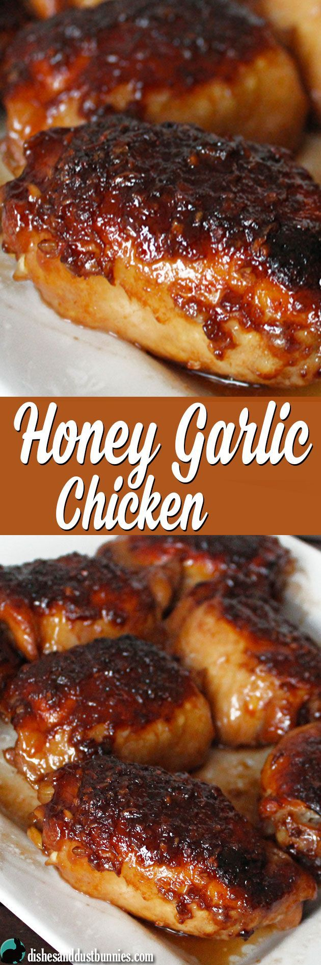 Honey Garlic Chicken (plus some really tasty sauce!) great family meal idea.