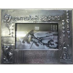 Ons is lief vir ouma - Pewter Art Picture Frame - Handcrafted by Hanli Barnard for R150.00