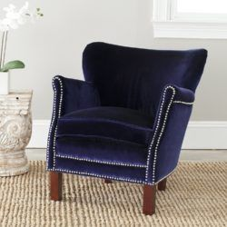 4 elegant royal blue accent chairs for small living rooms.  Select one that matches your taste.