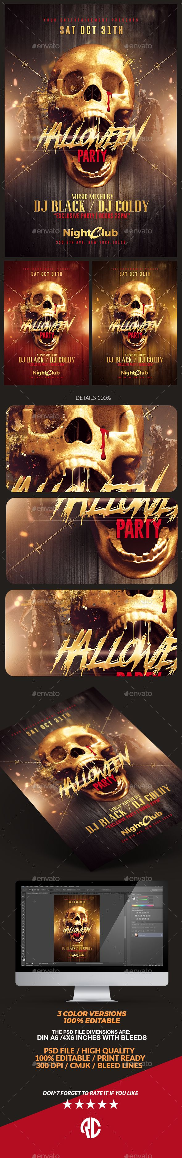 Halloween Party | Gold Pack Templates - Clubs & Parties Events
