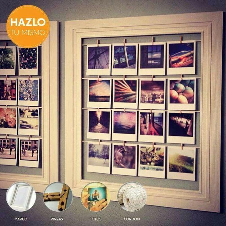 marco pinzas cord n diy adi s a los portaretratos. Black Bedroom Furniture Sets. Home Design Ideas