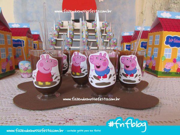 Use o Molde EVA Poça de Lama da Peppa Pig para fazer a poça de lama da Peppa na sua festa e usar na decoração, brinde, toppers da Peppa para imprimir