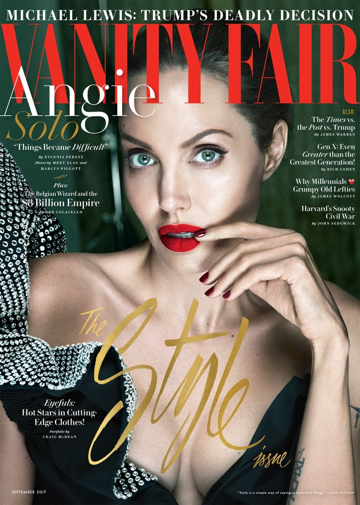 Angelina Jolie by Mert Alas and Marcus Piggott for Vanity Fair September 2017 Cover
