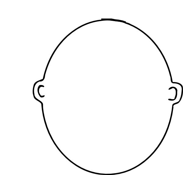 Blank face coloring page this is me art pinterest for Blank face coloring page