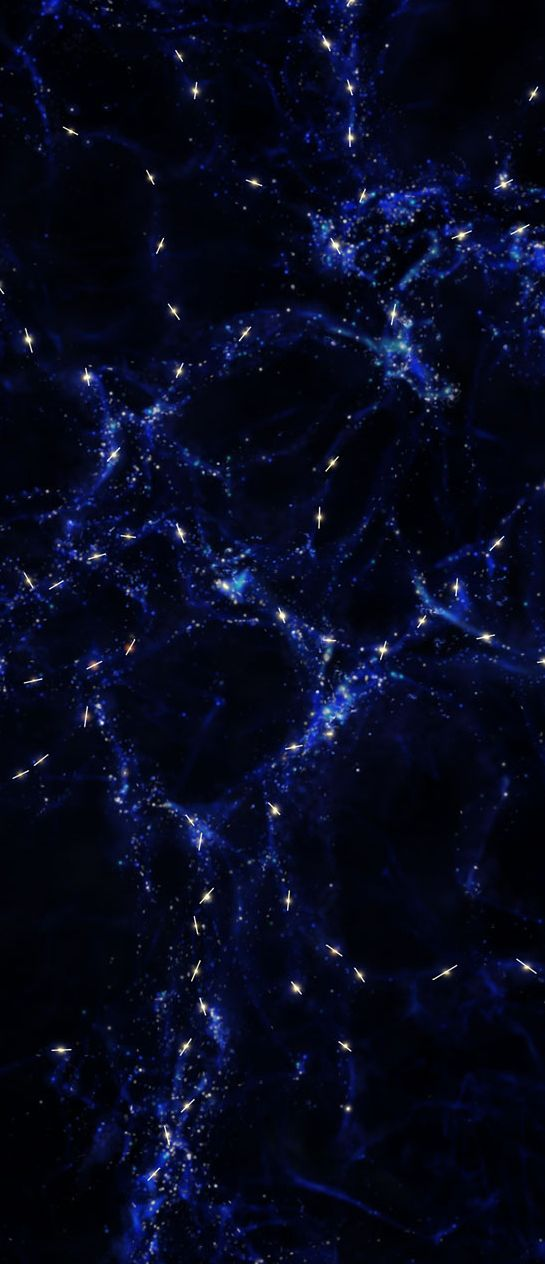New observations with ESO's Very Large Telescope (VLT) in Chile have revealed alignments over the largest structures ever discovered in the Universe. A European research team has found that the rotation axes of the central supermassive black holes in a sample of quasars are parallel to each other over distances of billions of light-years. The team has also found that the rotation axes of these quasars tend to be aligned with the vast structures in the cosmic web in which they reside. (ESO)
