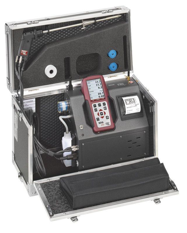 NOVAplus füstgázelemző: Többféle mérés 1 készülékkel: Füstgáz, Korom, Nyomás, Hőmérséklet, Szivárgás keresés, Tömítetlenség keresés, Páratartalom, Áramlási sebesség