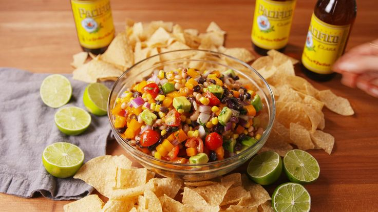 Cowboy Caviar  - Delish.com.   *can replace olive oil with zesty Italian or a tablespoon of oil and some red wine vinegar