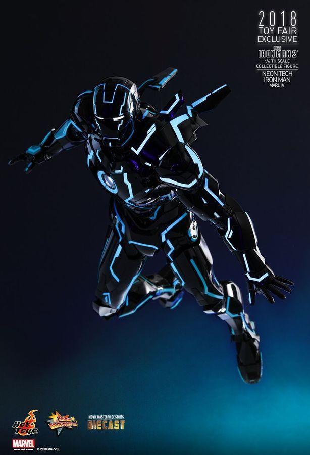 New Hot Toys 1/6 Iron Man 2 Iron Man Mark 4 MK IV Neon Tech