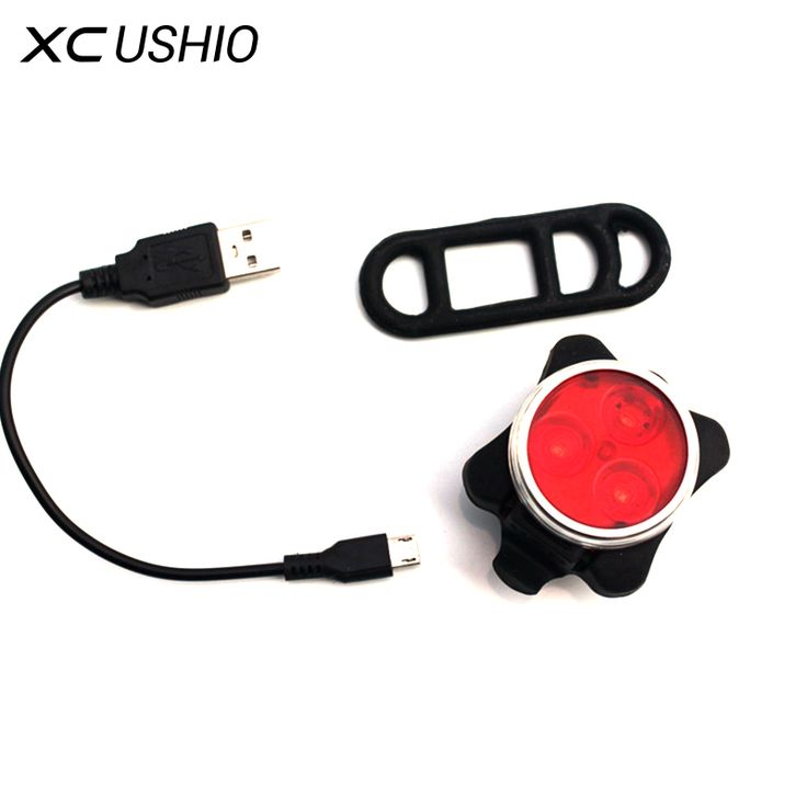 Bicycle Light Rechargeable Waterproof Bike Front Lamp Cycling Accessorie Tail Lights Bright Led USB Charging Safe Warning Light