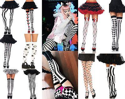 ALICE-IN-WONDERLAND-QUEEN-OF-HEARTS-MAD-HATTER-COSTUME-HOLD-UP-STOCKINGS-TIGHTS