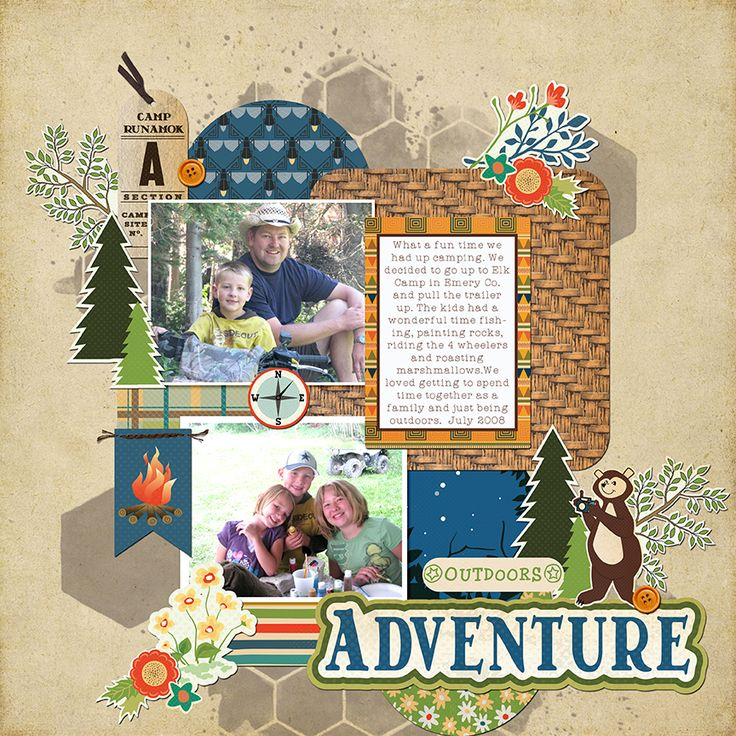 Digital scrapbook page by Tya Smith featuring Carta Bella's Great Outdoors collection available at www.snapclicksupply.com #digitalscrapbooking