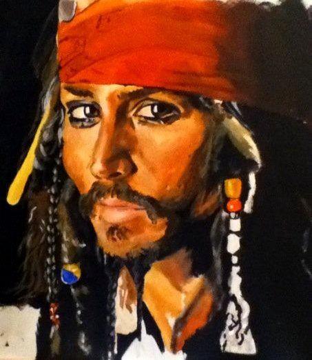 Johnny Depp. Painting. Art. Portrait. www.ciarafaganart.com