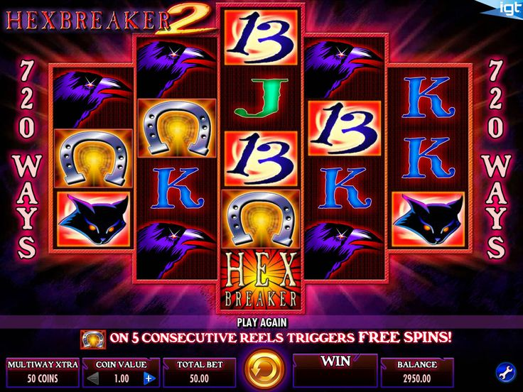 Hexbreaker 2 - http://freeslots77.com/hexbreaker-2/ - Hexbreaker 2 is a Halloween-themed online slot machine that comes with some high-value symbols and bonus features such as free spins. Developed by IGT, the 5-reel slot comes with IGT's Multiway Xtra pay line setup that means, you will be able to form winning combos as long as matching symbols...