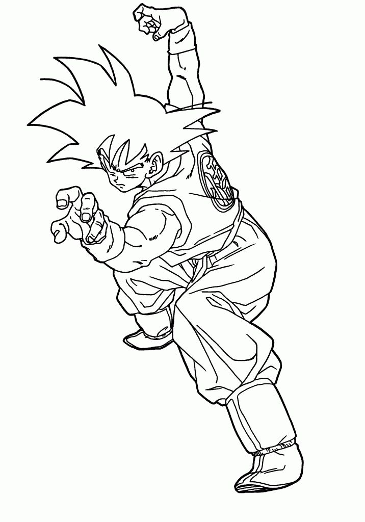 Nice Print Dragon Ball Z Coloring Pages